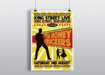 Poster Design for Wairarapa Band The Honey Truckers