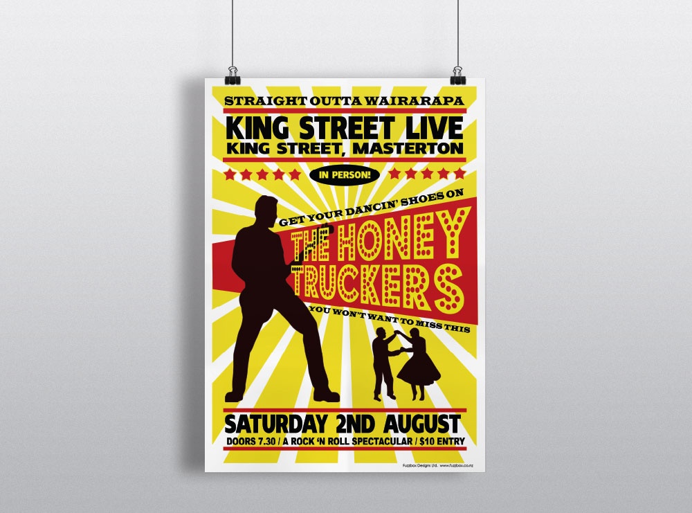 Poster Design for the Honey Truckers in Masterton
