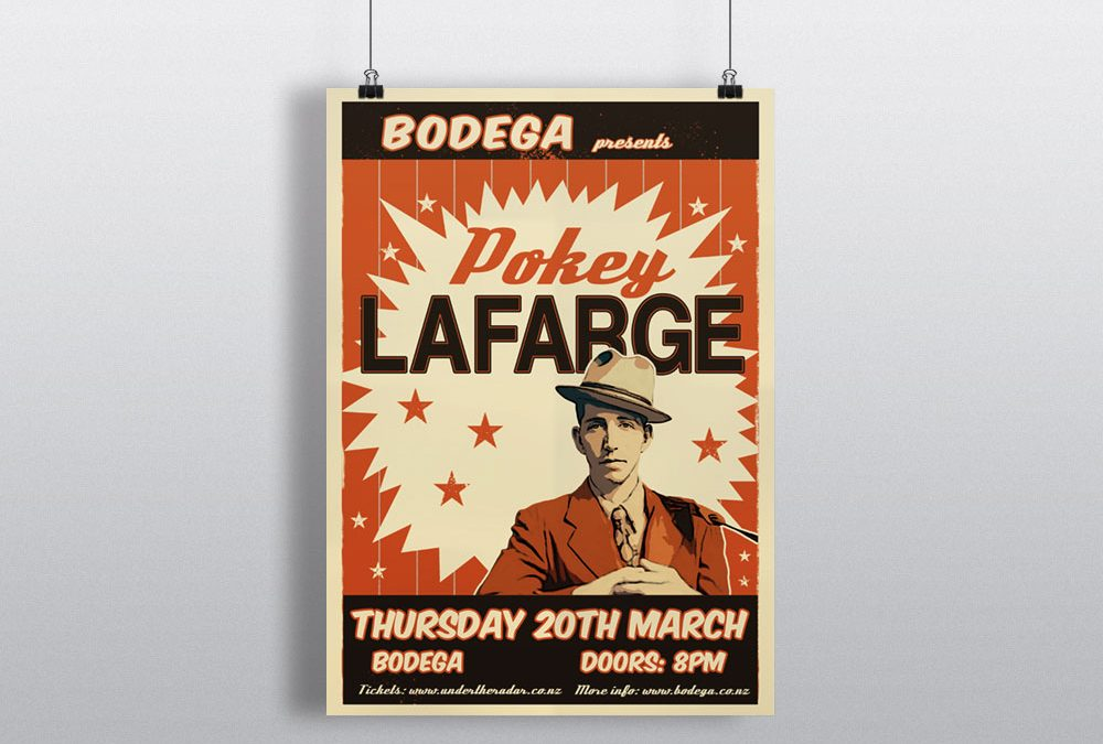 Poster Design for American Artist Pokey LaFarge