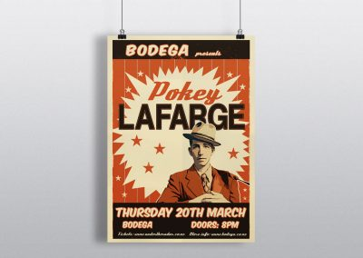 Poster Design for American Artist Pokey LaFarge