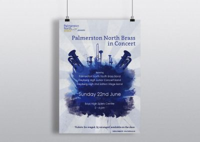 Poster Design for Palmerston North Brass Band