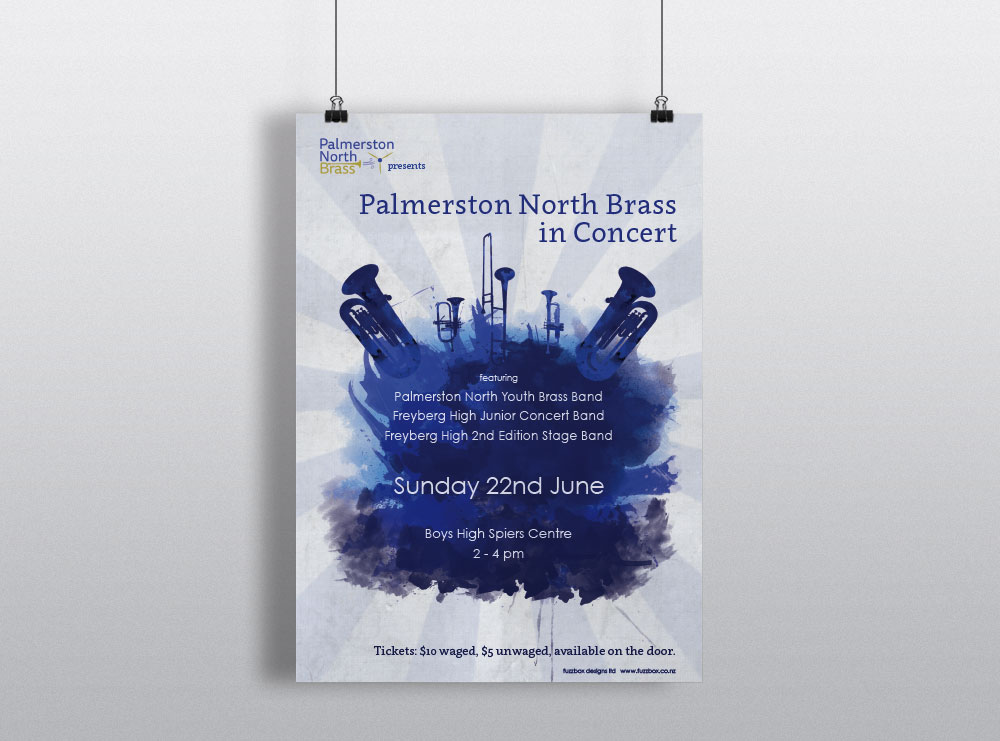 Palmerston North Brass Band Poster Design