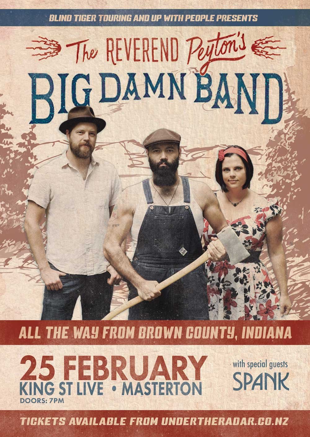 Graphic Design - Poster Design Wairarapa - Reverend Peyton's Big Damn Band