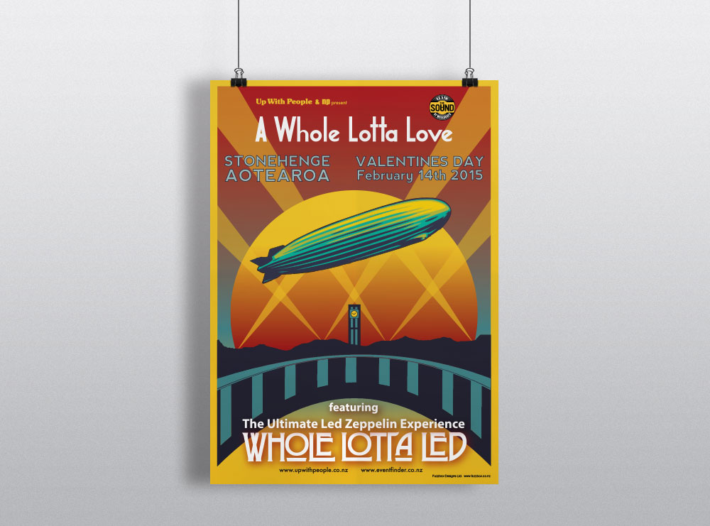 Poster Design - Whole Lotta Led, Carterton Wairarapa