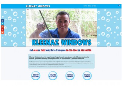 Website Design for Kleenaz Windows, Carterton