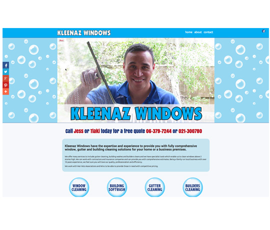 Website Design - Kleenaz Windows, Carterton