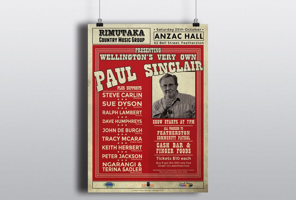 Poster Design for Rimutaka Country Music Group in Featherston