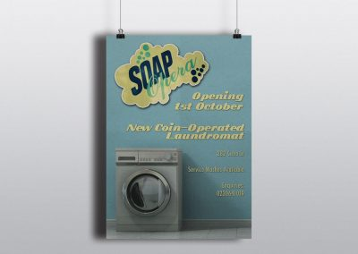 Flyer Design for Soap Opera Laundromat in Wellington