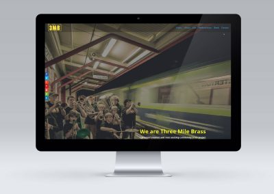 Website Design for Three Mile Brass (3mb) in Carterton