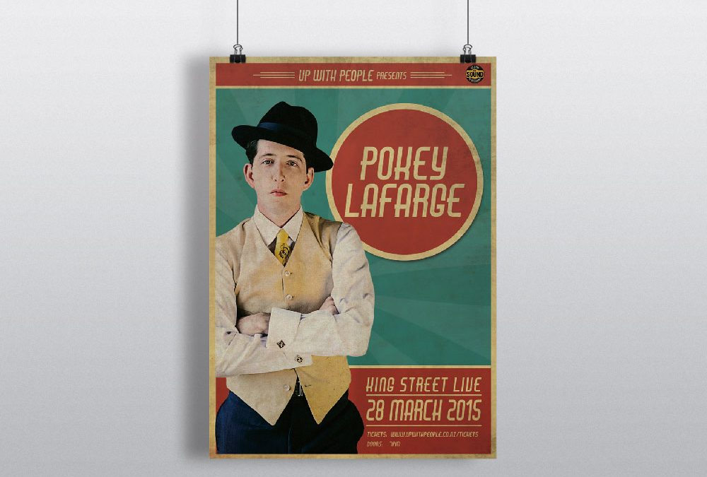 Poster Design for Pokey LaFarge New Zealand Tour 2015