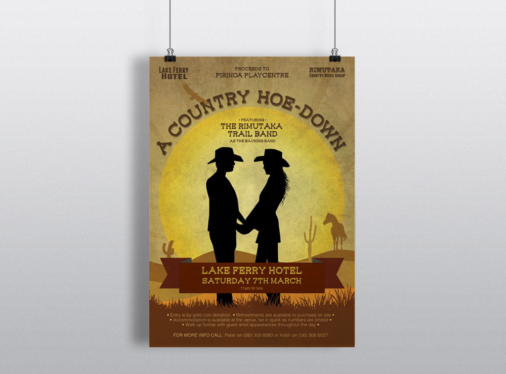 Poster Design - Rimutaka Country Music Group Hoe Down 2015