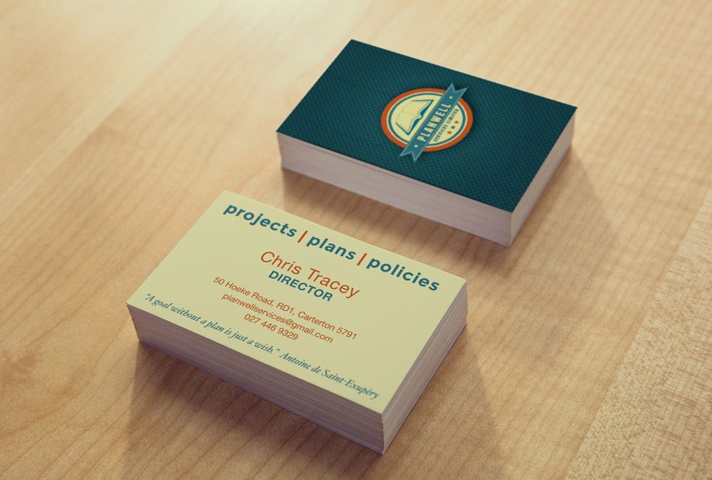 Business Card Design for Planwell Services Ltd in Carterton
