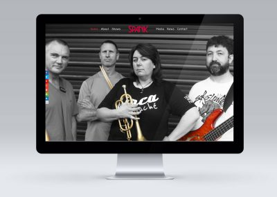 Website Design for Carterton Band Spank