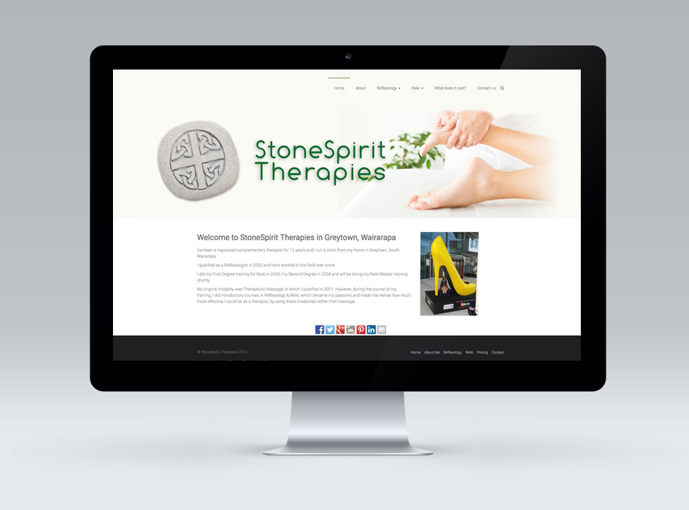 Website design for Stone Spirit Therapies in Greytown