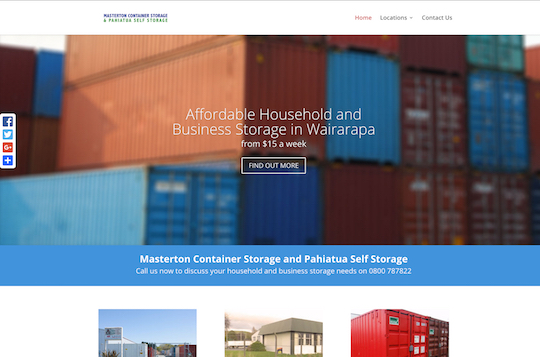 Masterton Container Storage - Content Management System