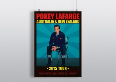 Pokey LaFarge New Zealand Tour Poster 2015