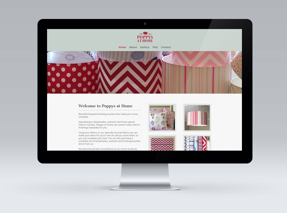 Poppys at Home Website Image - built using WordPress CMS
