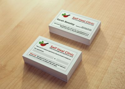Business Card Design – The Self Heal Clinic Masterton