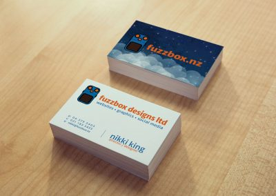 Fuzzbox Designs Business Card Design