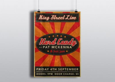 Poster Design for Hard Candy at King Street Live
