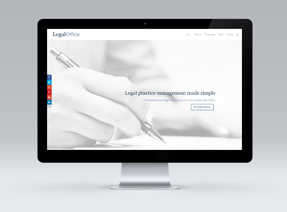 Website Design - Legal Office Practice Management Software New Zealand