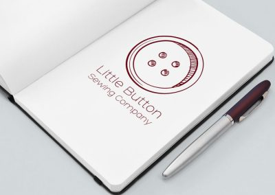 Logo Design for The Little Button Company, Masterton, Wairarapa