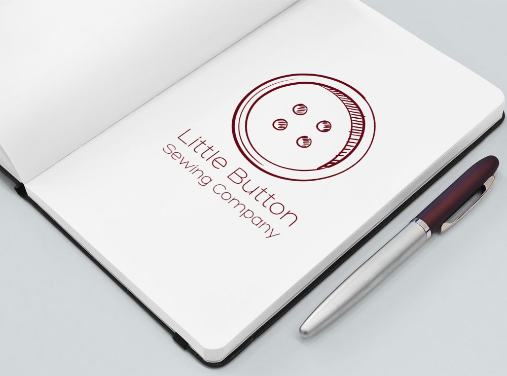 Logo Design for The Little Button Company, Masterton