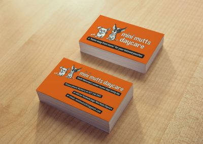 Business Card Design – Mini Mutts Daycare in Featherston