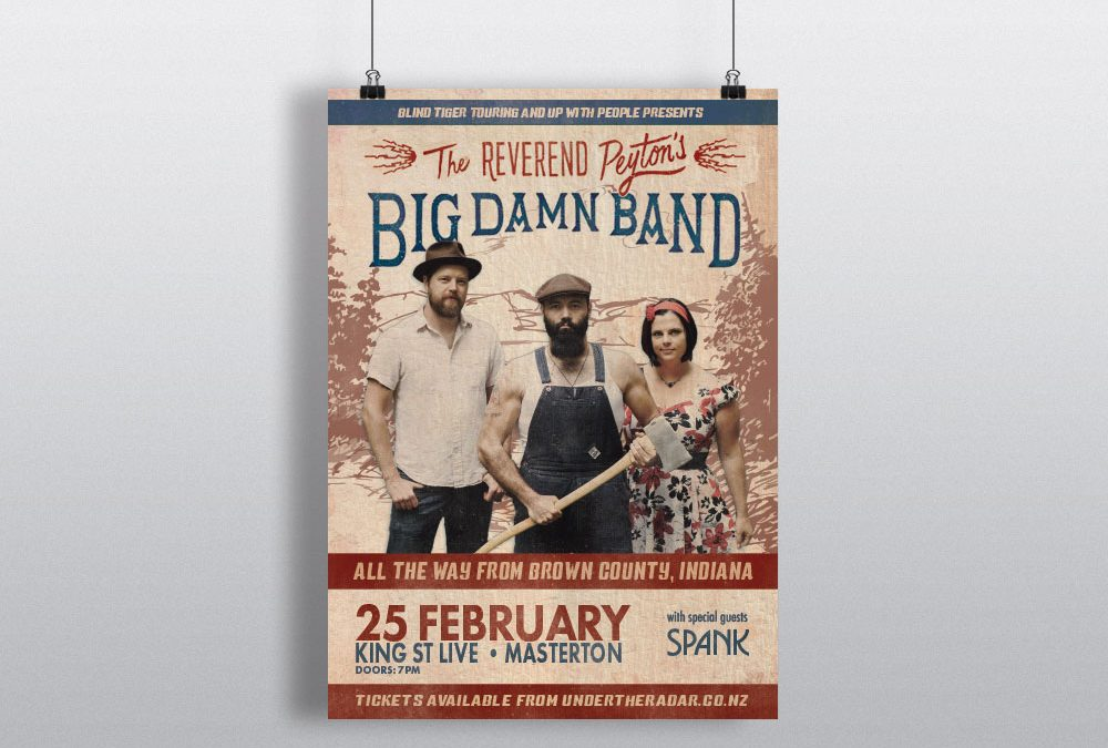 Poster Design – Reverend Peyton's Big Damn Band