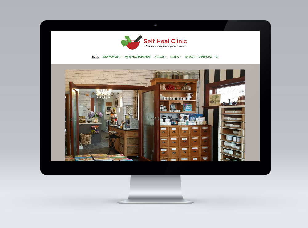 Multisite WordPress Website Design - The Self Heal Clinic Masterton