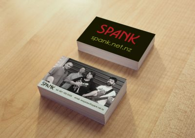 Business Card Design – Wairarapa Band Spank