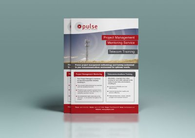Flyer Design – Pulse Telecom Training, Carterton