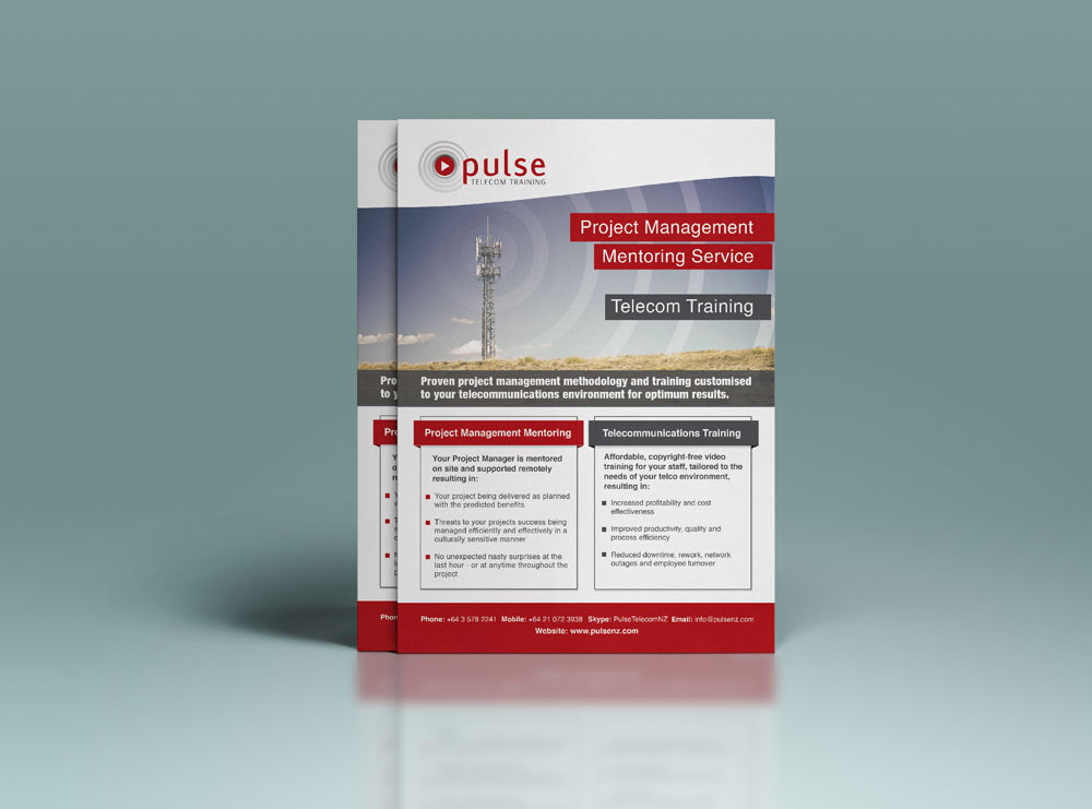 Flyer Design for Pulse Telecom Training in Carterton
