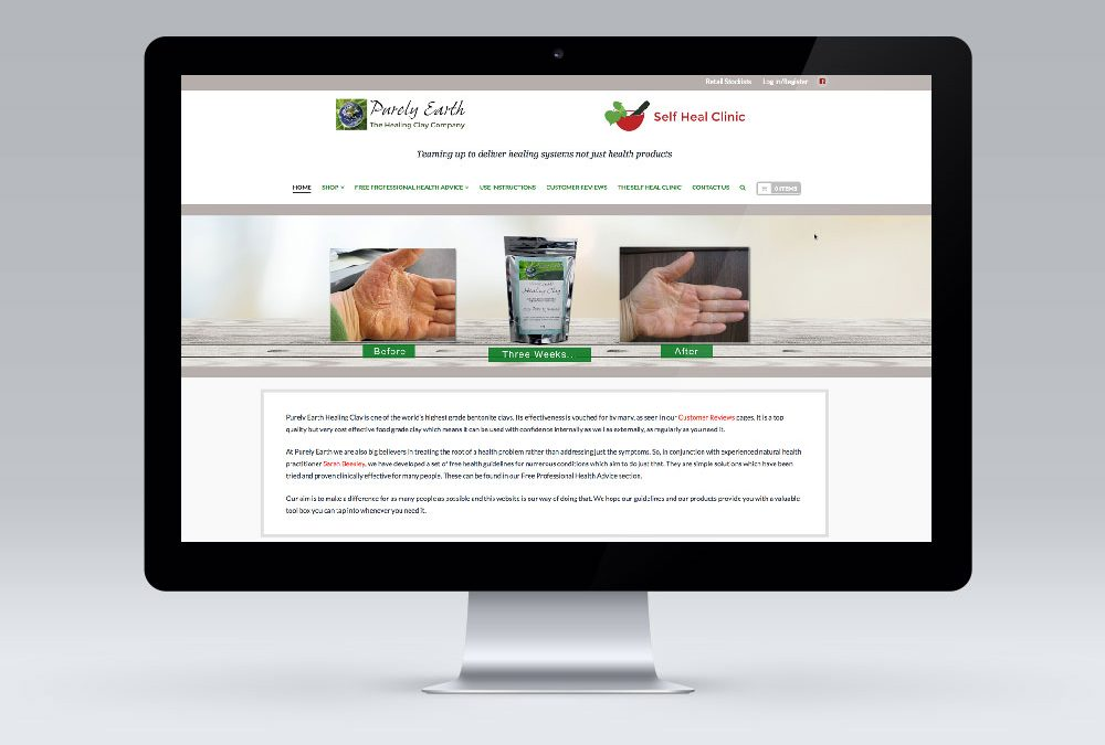 WordPress Website Design – Purely Earth Masterton