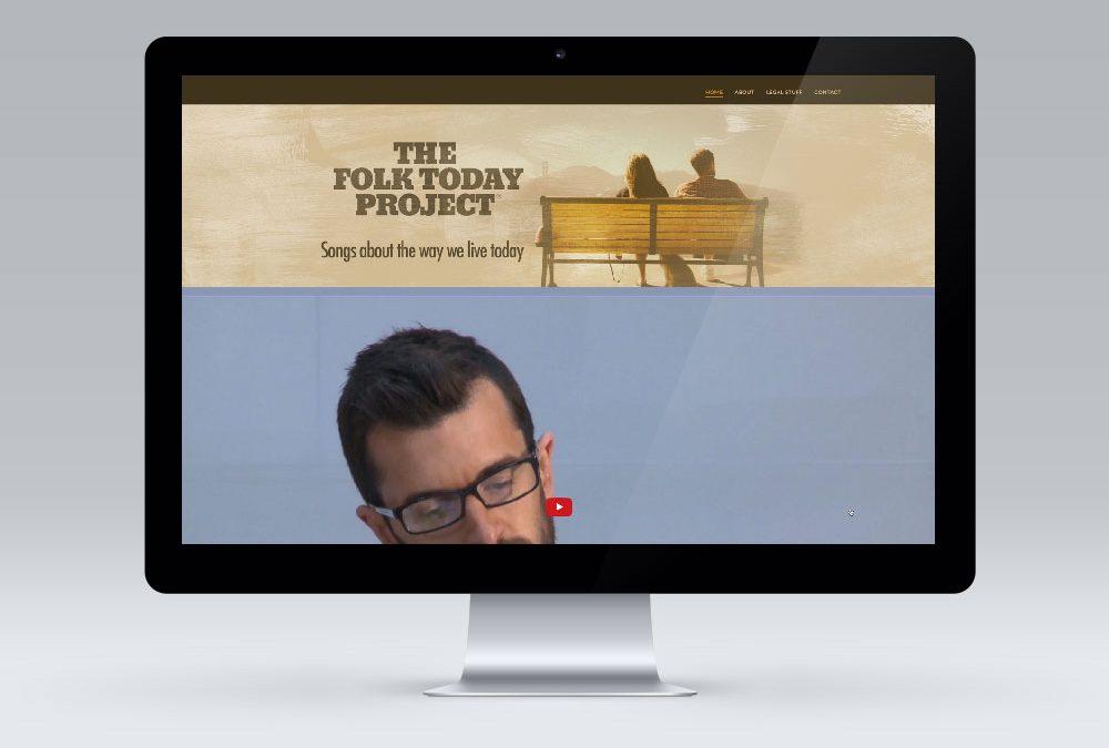 Website Design – The Folk Today Project, Wellington