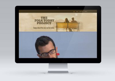 Website Design – The Folk Today Project, Wellington