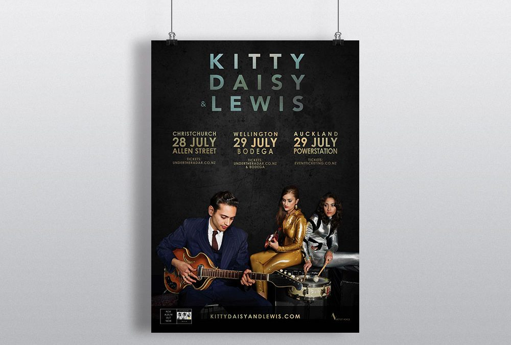 Poster Design – Kitty, Daisy and Lewis New Zealand