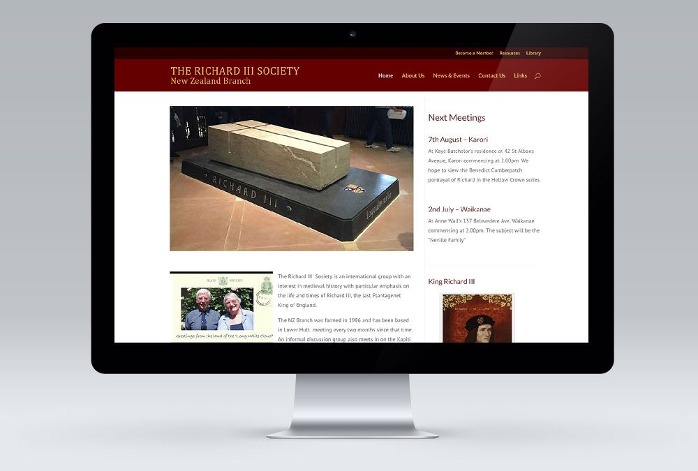 Richard III Society – WordPress Website Redesign