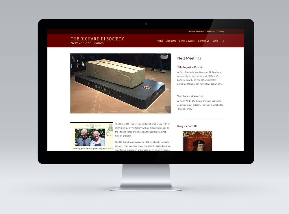 Richard III Society - WordPress Website Design