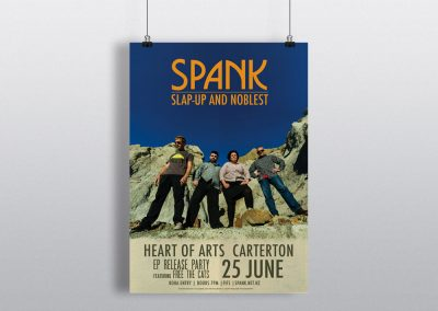 Poster Design – Spank Album Release Party