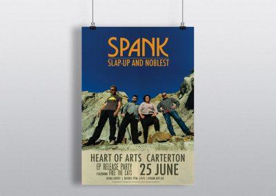 Poster Design – Spank Album Release Party