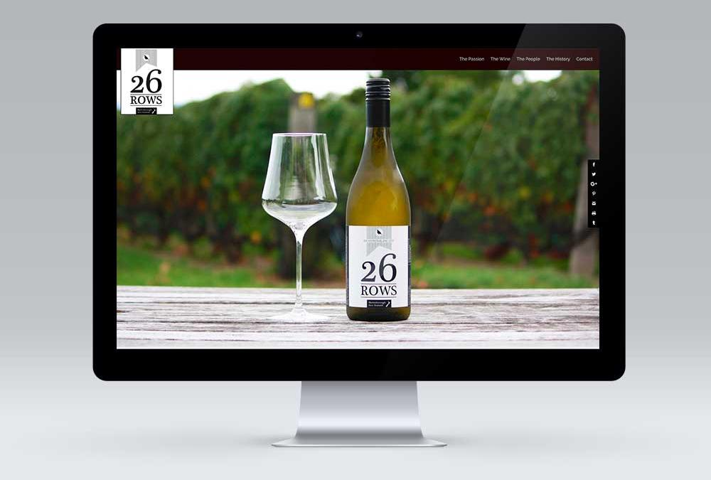 26 Rows, Martinborough, Website Design