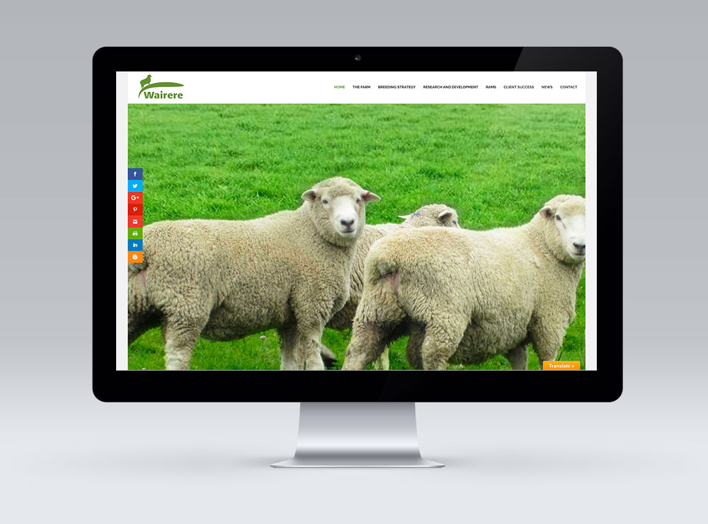 Wairere Rams, Bideford, Masterton - website design