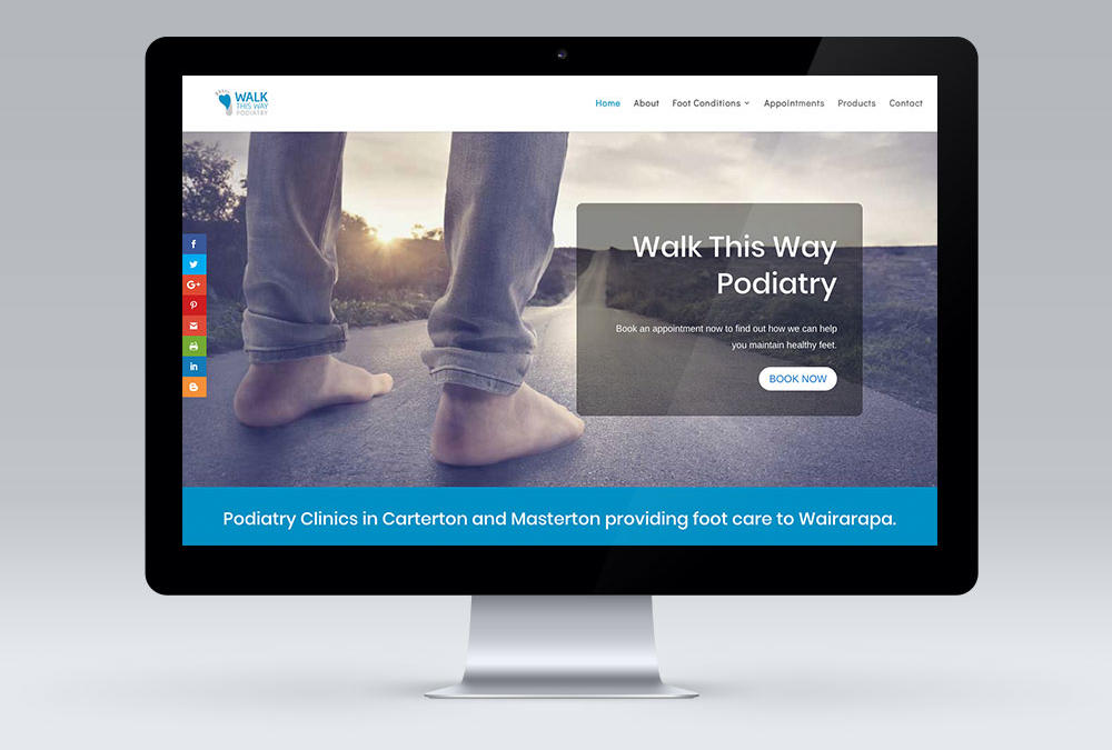 A Website for Walk This Way Podiatry, Masterton,