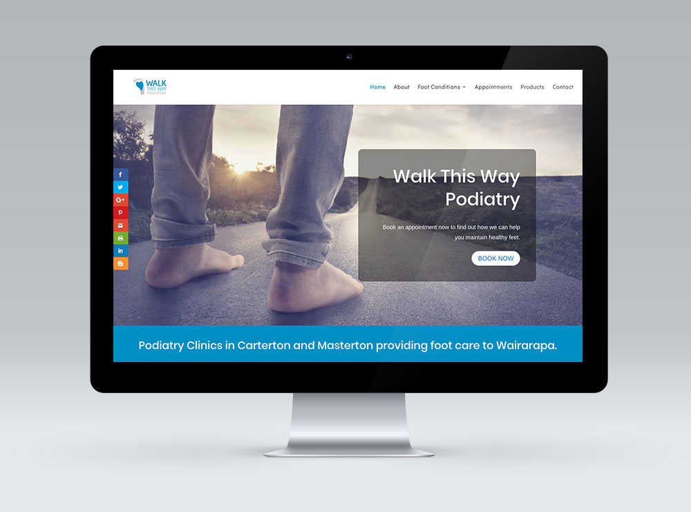 Walk This Way Website Design using WordPress